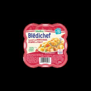 Blédichef Cassolette de Patate Douce Légumes et Poulet