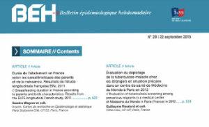 BEH (Bulletin Epidémiologique Hebdomadaire, INVS) 2015: Durée de l'allaitement en France, résultats de l'étude ELFE